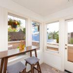 Atrium/Sunroom on the top floor, with a mini-fridge for easy entertaining.